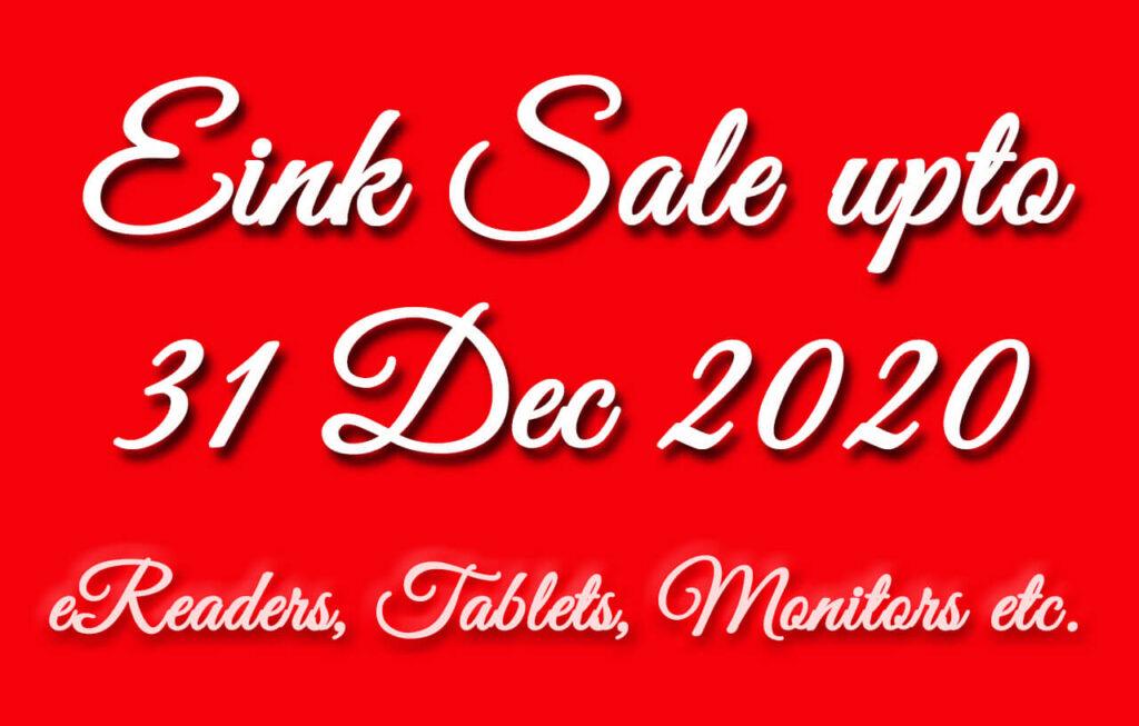 eink ereader sale discounts newyear christmas 2020