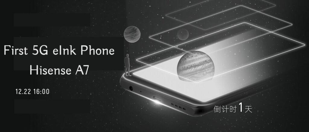 Hisense A7 5g eink phone ereader