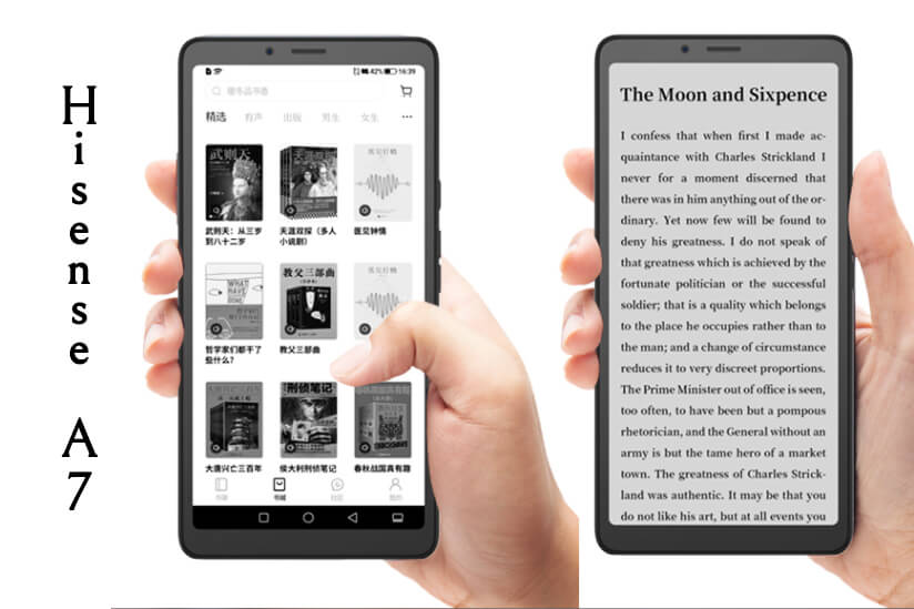 Hisense a7 ebook reading