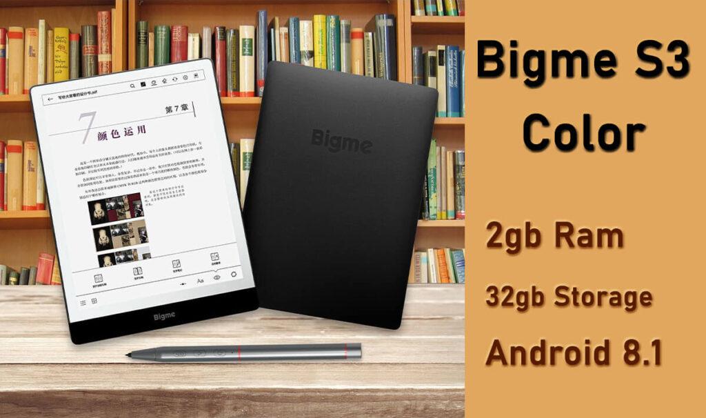 Bigme S3 Color eink ereader tablet android