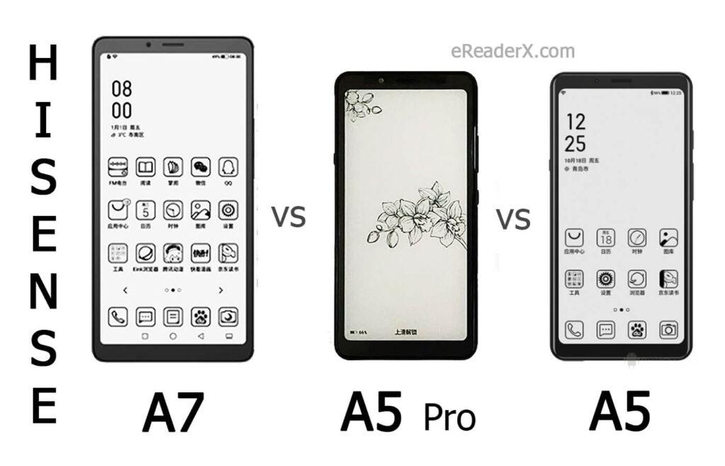 Hisense A7 vs A5Pro Classic vs A5 specs