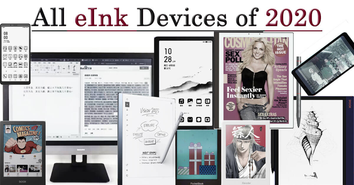all eink tablets ereaders phone monitor 2020