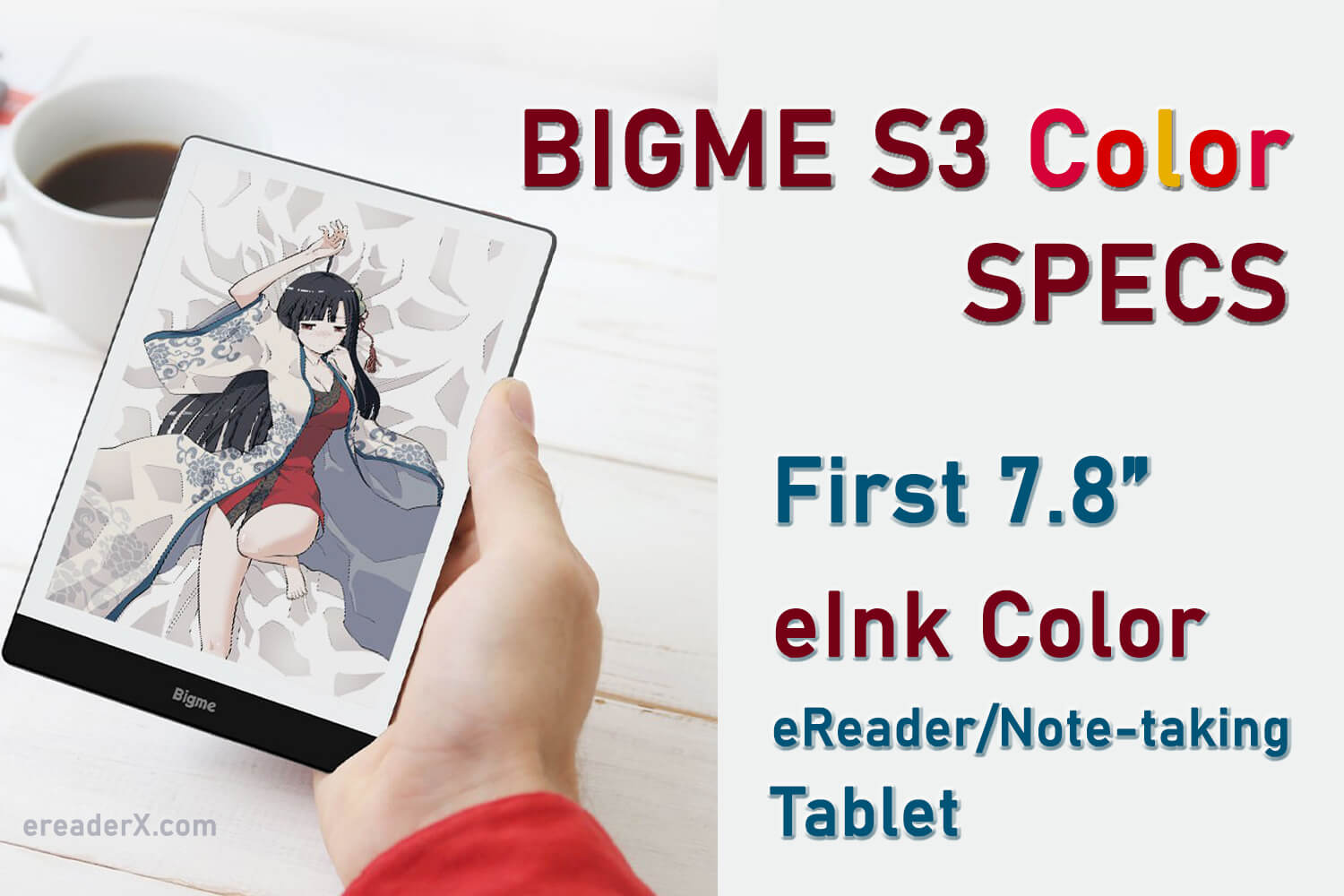 Bigme S3 Color ereader android eink