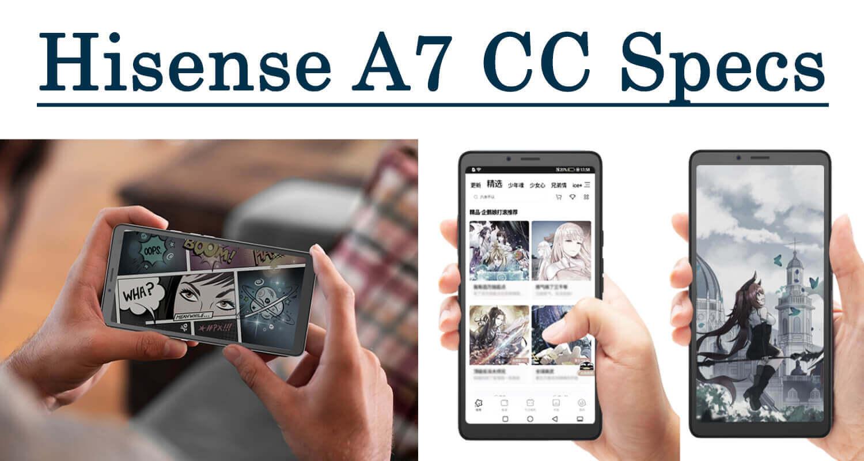 Hisense a7cc specs color phone eink 5g