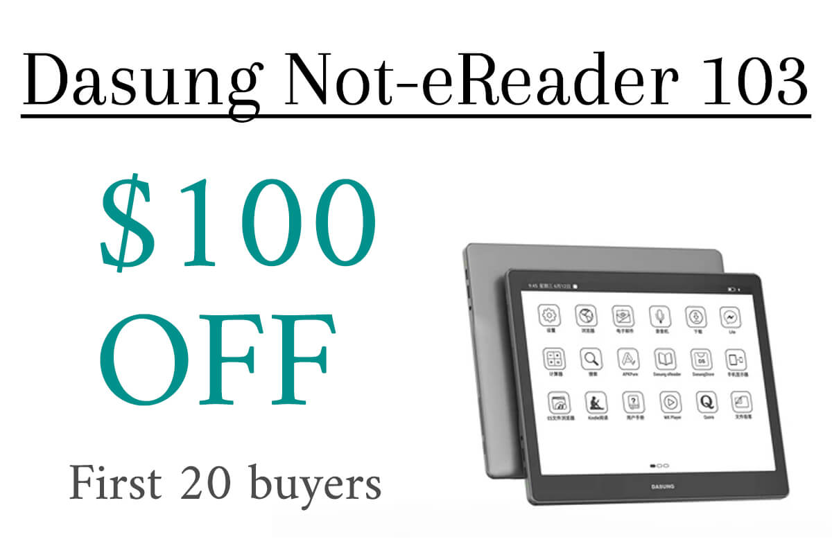 Dasung notereader 103 discount eink tablet