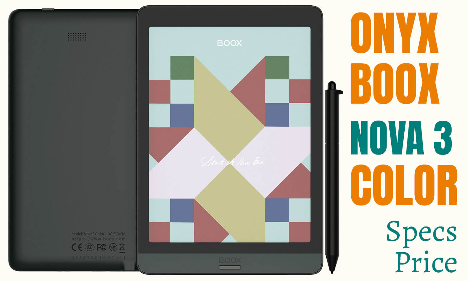 Onyx Boox nova3 color- specs, price, features