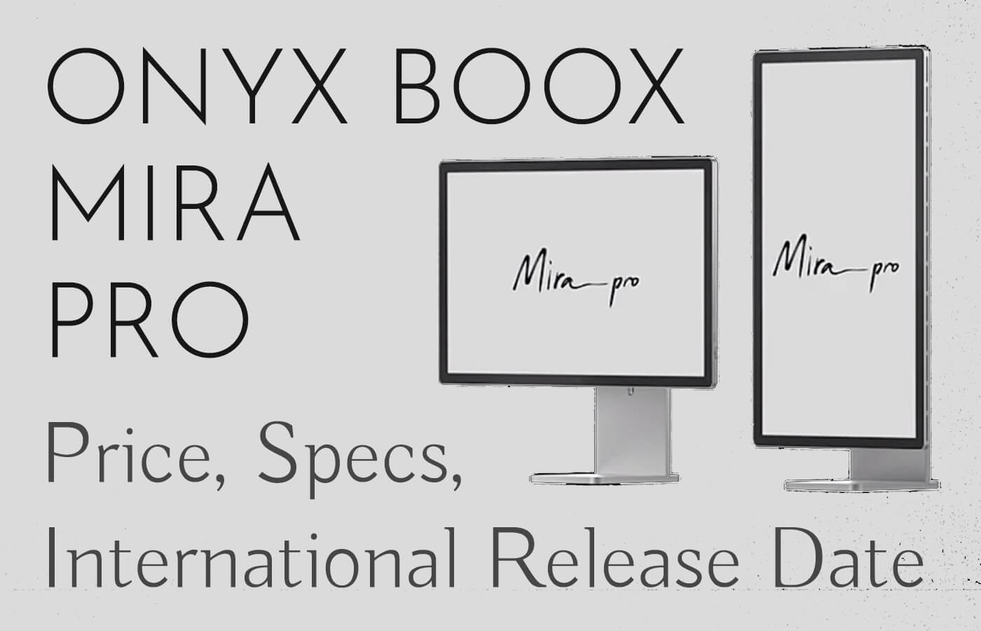 onyx boox mira pro eink monitor price