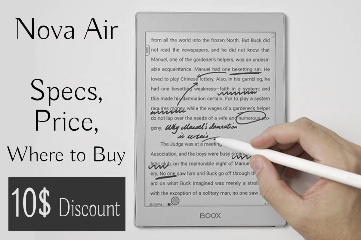 onyx boox nova air specs price